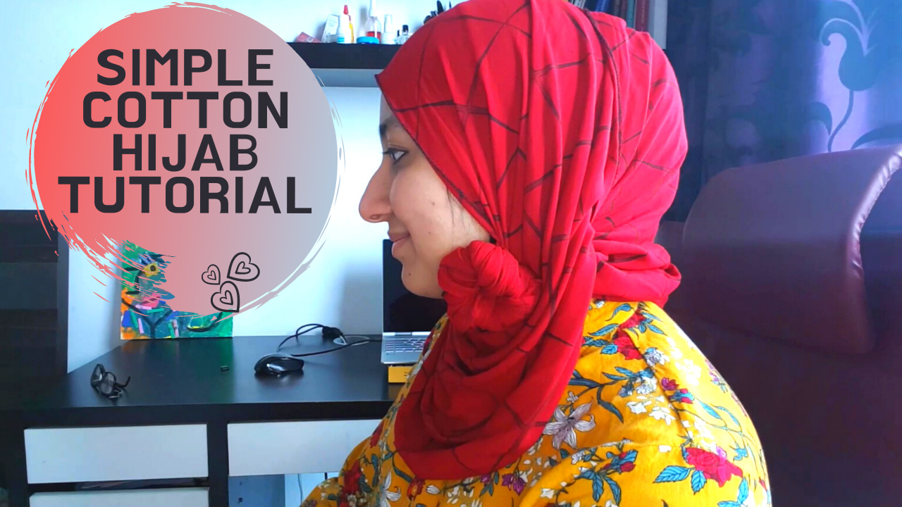 3 Simple, Beautiful, And Super Easy Cotton Hijab Tutorial