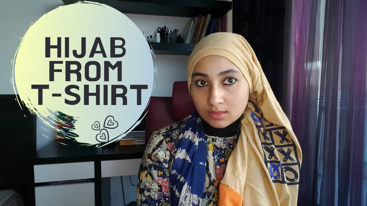 How-To Make An Instant Hijab From T-shirts DIY easily